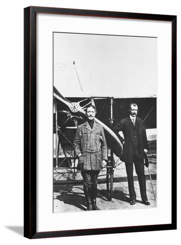 Louis Bleriot 1872-1936, French Aviator and the French Air Ace Adolphe Pegoud--Framed Art Print