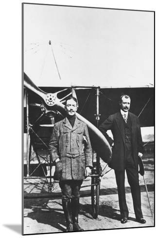 Louis Bleriot 1872-1936, French Aviator and the French Air Ace Adolphe Pegoud--Mounted Photographic Print