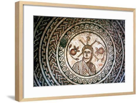 Roundel from a Roman Villa, St Mary, Dorset, 4th Century Ad--Framed Art Print