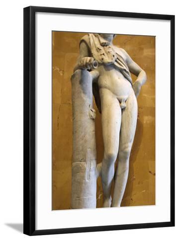 Statue of a Resting Satyr-Praxiteles Praxiteles-Framed Art Print