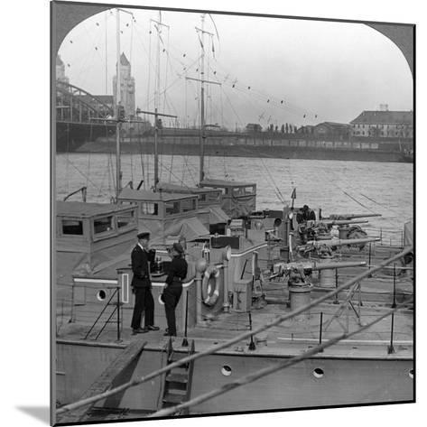 Flotilla of Motor Boats on the Rhine, C1918-1919--Mounted Photographic Print