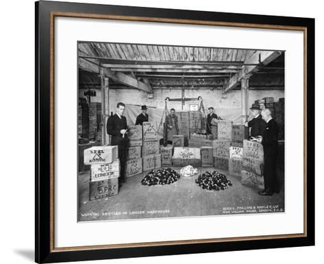Working with Bristles in a Warehouse, London, 1938--Framed Art Print