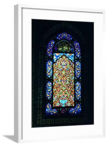 Stained Glass Window, Suleymaniye Mosque, 1557--Framed Art Print