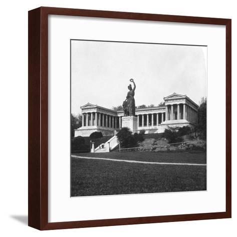 The Ruhmeshalle and Bavaria Statue, Munich, Germany, C1900-Wurthle & Sons-Framed Art Print