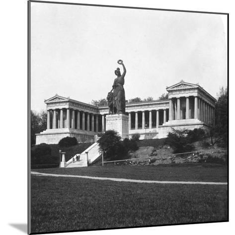 The Ruhmeshalle and Bavaria Statue, Munich, Germany, C1900-Wurthle & Sons-Mounted Photographic Print