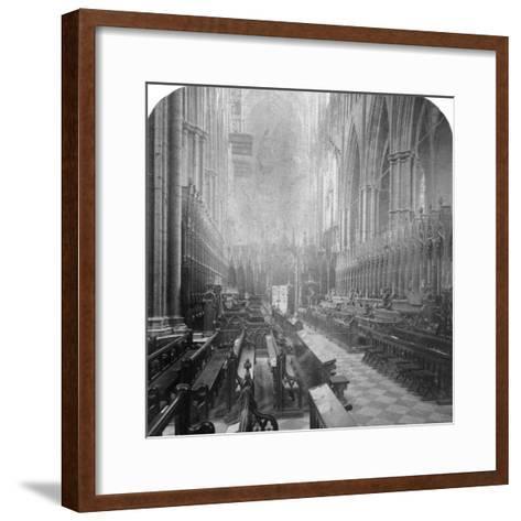 Interior of Westminster Abbey, London, Late 19th Century-Underwood & Underwood-Framed Art Print
