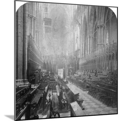 Interior of Westminster Abbey, London, Late 19th Century-Underwood & Underwood-Mounted Photographic Print