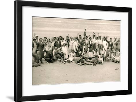 Sports Day for the Gloucester Hotel Party on La Publente Beach, Jersey, 1938--Framed Art Print