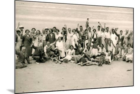 Sports Day for the Gloucester Hotel Party on La Publente Beach, Jersey, 1938--Mounted Photographic Print