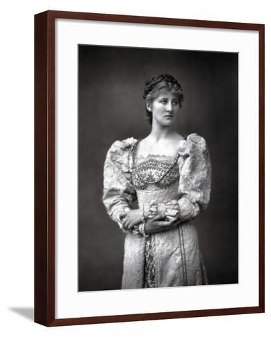 Mary Anderson (1859-194), American Stage Actress, Late 19th Century--Framed Art Print