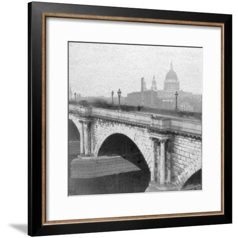 St Paul's Cathedral, London, Late 19th Century--Framed Art Print