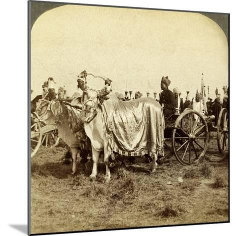 Silver Cannon of the Maharaja of Baroda, Delhi, India-Underwood & Underwood-Mounted Photographic Print