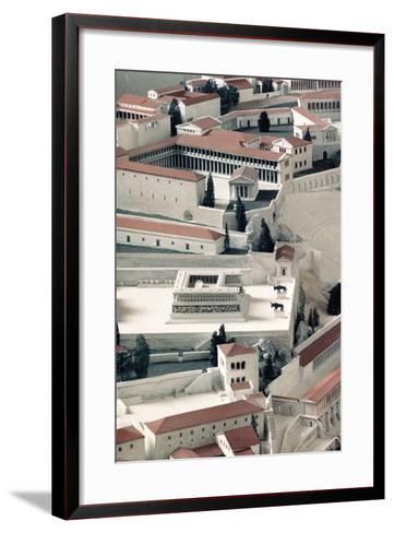 A Model of the Ancient Greek City of Pergamon--Framed Art Print