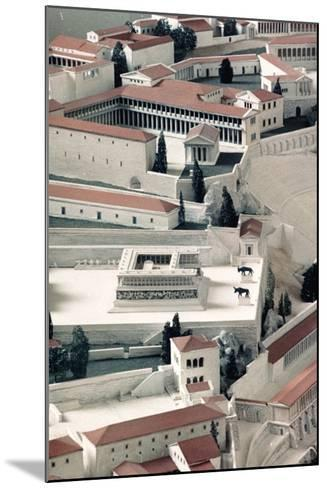 A Model of the Ancient Greek City of Pergamon--Mounted Photographic Print