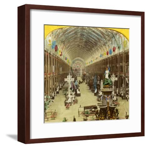 Interior View of the International Exhibition, London--Framed Art Print