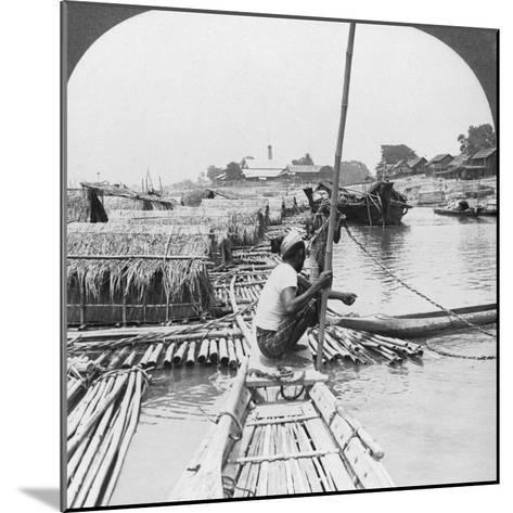 Rafts on the Irrawaddy River, Mandalay, Burma, 1908--Mounted Photographic Print