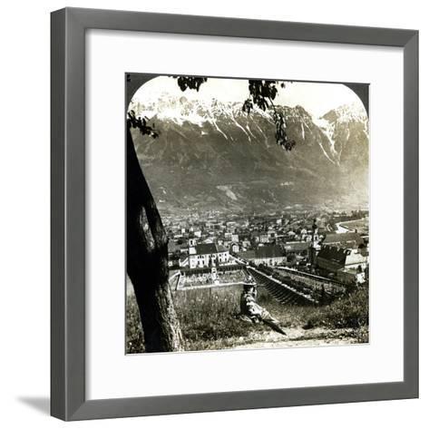 Innsbruck and the Bavarian Alps, Tyrol, Austria-Underwood & Underwood-Framed Art Print