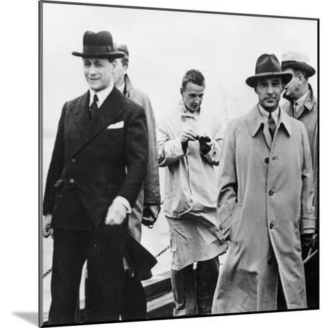 Edsel Ford Visiting Ford Dagenham, Essex, 1930S--Mounted Photographic Print