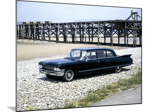 A 1961 Cadillac Presidential Limousine on a Beach--Mounted Photographic Print