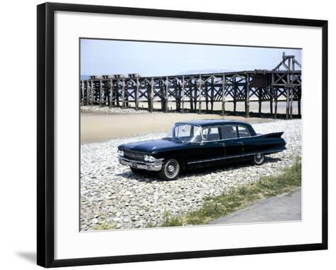 A 1961 Cadillac Presidential Limousine on a Beach--Framed Art Print