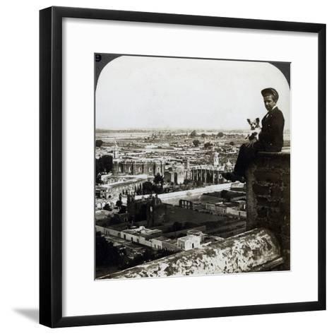 View of Cholula, Mexico-Underwood & Underwood-Framed Art Print