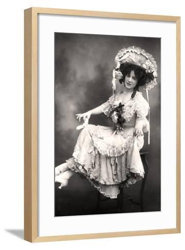 Fanny Dango (1878-197), Singer and Dancer, Early 20th Century-Foulsham and Banfield-Framed Art Print