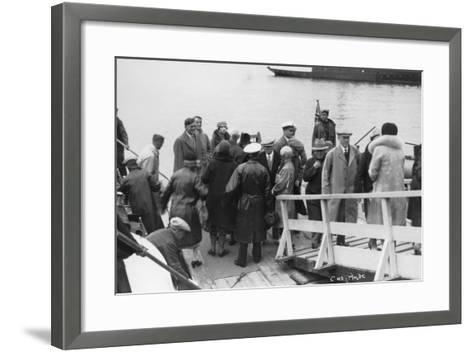 Passenger Ship Bethed at Molde, Norway, 1929--Framed Art Print