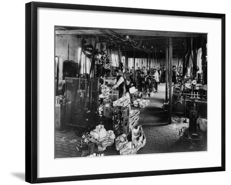 Interior of the Iris Works, Willesden, London, C1907--Framed Art Print