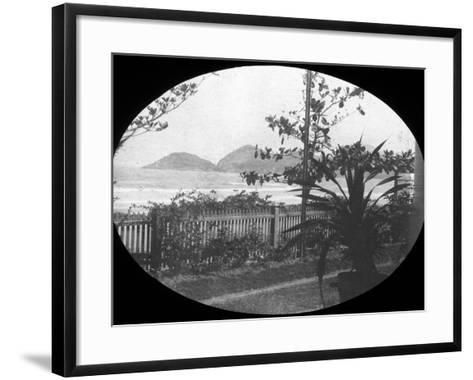 Guaruja, Sao Paulo, Brazil, Late 19th or Early 20th Century--Framed Art Print