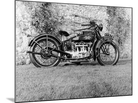1924 Henderson Motobike--Mounted Photographic Print