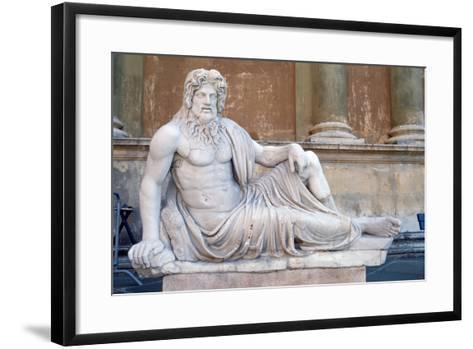 Statue, Court of the Pigna, Vatican, Rome--Framed Art Print