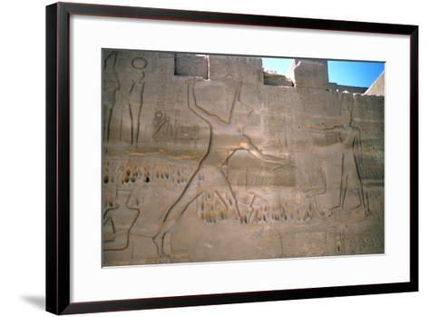 Pharaoh Seti, Capture of Slaves, Luxor, Egypt--Framed Art Print
