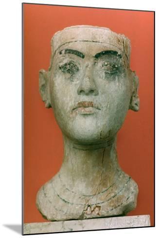 Head of a King, Tutankhamen, Egyptian--Mounted Photographic Print