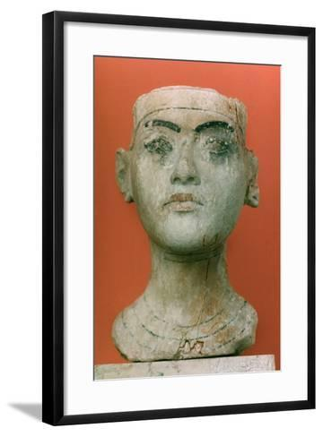 Head of a King, Tutankhamen, Egyptian--Framed Art Print