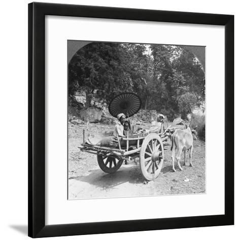 Family Journeying Through the Jungle Near Mingun, Burma, 1908--Framed Art Print