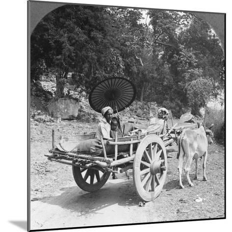 Family Journeying Through the Jungle Near Mingun, Burma, 1908--Mounted Photographic Print