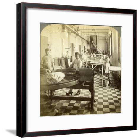 Packing Prize Butter for the European Markets, Hasley, Denmark-Underwood & Underwood-Framed Art Print