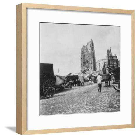 The Hotel De Ville, Arras, France, World War I, C1914-C1918- Nightingale & Co-Framed Art Print