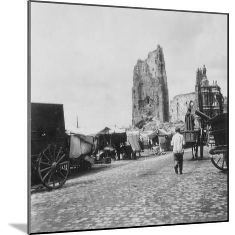 The Hotel De Ville, Arras, France, World War I, C1914-C1918- Nightingale & Co-Mounted Photographic Print