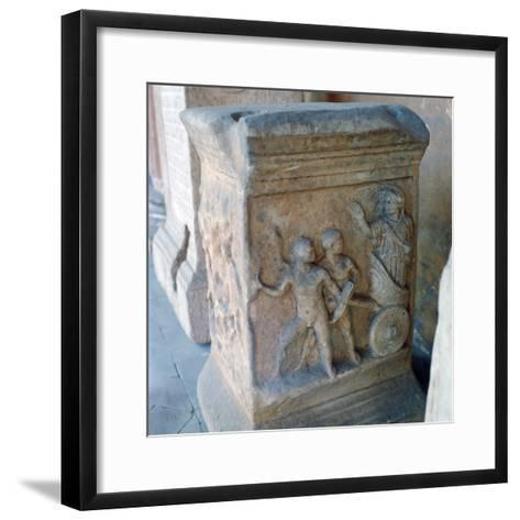Roman Marble Carving--Framed Art Print