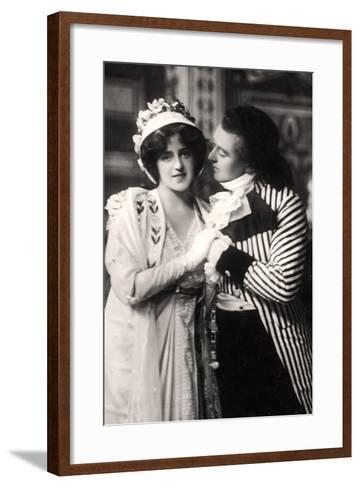 Robert Evett (1874-194) and Denise Orme (1885-196) in the Merveilleuses, Early 20th Century--Framed Art Print