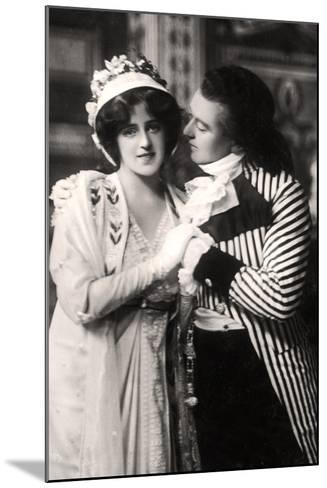 Robert Evett (1874-194) and Denise Orme (1885-196) in the Merveilleuses, Early 20th Century--Mounted Photographic Print