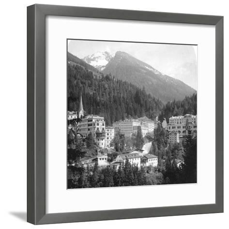 Schwarzenberg, Badgastein, Austria, C1900s-Wurthle & Sons-Framed Art Print