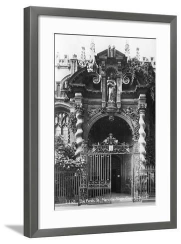 The Porch of St Mary the Virgin Church, Oxford, Oxfordshire, Early 20th Century--Framed Art Print
