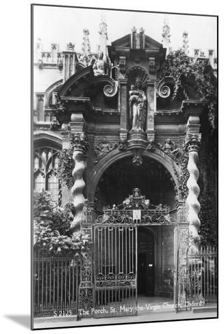 The Porch of St Mary the Virgin Church, Oxford, Oxfordshire, Early 20th Century--Mounted Photographic Print
