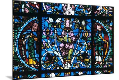 Virgin and Prophets, Stained Glass, Chartres Cathedral, France, 1194-1260--Mounted Photographic Print