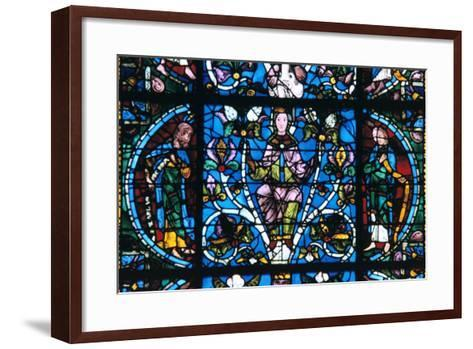Virgin and Prophets, Stained Glass, Chartres Cathedral, France, 1194-1260--Framed Art Print