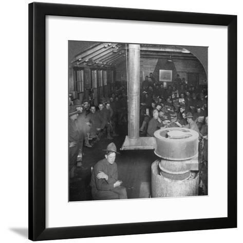 Social Room of a Ymca Army Camp Hut, Early 20th Century--Framed Art Print