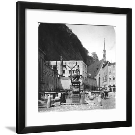 The Pferdeschwemme (Horse Wel), Salzburg, Austria, C1900s-Wurthle & Sons-Framed Art Print