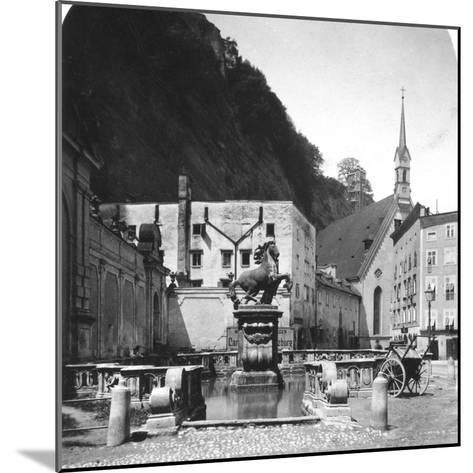 The Pferdeschwemme (Horse Wel), Salzburg, Austria, C1900s-Wurthle & Sons-Mounted Photographic Print
